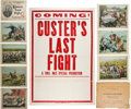 Entertainment Collectibles:Movie, Custer's Last Fight: 1922 Movie Poster and Lobby Cards....(Total: 9 Items)