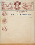 """Advertising:Paper Items, Wild West Show Performer """"Doc"""" Carver Letterheads.... (Total: 2 Pair)"""