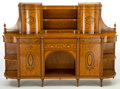 Furniture , A WRIGHT & MANSFIELD VICTORIAN SATINWOOD CABINET . Wright & Mansfield, London, England, circa 1870-1880. Marks: WRIGHT & M...