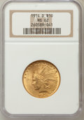 Indian Eagles: , 1914-D $10 MS62 NGC. NGC Census: (668/420). PCGS Population(673/569). Mintage: 343,500. Numismedia Wsl. Price for problem ...