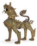 Asian:Other, A TIBETAN BRONZE TEMPLE DOG . Maker unknown, Tibetan, 19th century.22 x 20 x 9-3/4 inches (55.9 x 50.8 x 24.8 cm). ...