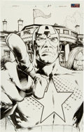 Original Comic Art:Splash Pages, Trevor Hairsine and Danny Miki Ultimate Six #5 CaptainAmerica Splash Page 27 Original Art (Marvel, 2003)....
