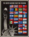 "Movie Posters:War, World War II Propaganda (U.S. Government Printing Office, 1942).Poster (22"" X 28""). OWI Poster 19. ""The United Nations Fig..."