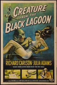 "Creature from the Black Lagoon (Universal International, 1954). One Sheet (27"" X 41""). Horror"
