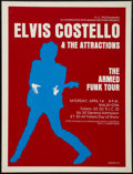 """Movie Posters:Rock and Roll, Elvis Costello & The Attractions Concert Poster (R.I.C.Programming, 1978). Poster (17.5"""" X 23.5""""). Rock and Roll.. ..."""
