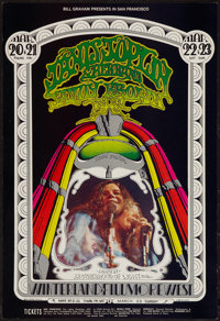 """Janis Joplin & Her Band (Bill Graham, 1969). Poster (14.25"""" X 21""""). Second Printing. Rock and Roll"""