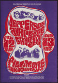 "Movie Posters:Rock and Roll, Jefferson Airplane & Grateful Dead (Bill Graham, 1966). ConcertPoster (14.25"" X 20.125""). Second Printing. Rock and Roll.. ..."