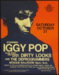 "Movie Posters:Rock and Roll, Iggy Pop Concert Poster (VCU Concerts, 1981). Concert Poster (16.5""X 21""). Rock and Roll.. ..."