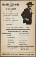 "Movie Posters:Rock and Roll, Marty Robbins (Sounds Unlimited, Sep., 1969). Concert Poster (14"" X22""). Rock and Roll.. ..."