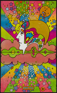 """Peter Max (Capitol, 1960s). Art Poster (12.5"""" X 20.5""""). DS. Rock and Roll"""