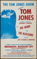 "Movie Posters:Rock and Roll, Tom Jones Show Concert Poster (1971). Concert Poster (14"" X 22.5"").Rock and Roll.. ..."