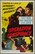 """Movie Posters:Mystery, Operation Conspiracy & Other Lot (Republic, 1957). One Sheets (2) (27"""" X 41""""). Flat Folded. Mystery.. ... (Total: 2 Items)"""