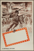 "Movie Posters:War, Republic Studios WWII Stock Poster (Republic, 1940s). Flat FoldedOne Sheet (27"" X 41""). War.. ..."