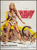 "Movie Posters:Fantasy, One Million Years B.C. (20th Century Fox, 1966). French Grande (47"" X 63""). Fantasy.. ..."