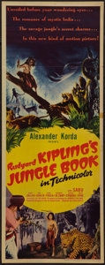 "Movie Posters:Adventure, Jungle Book (United Artists, 1942). Insert (14"" X 36""). Adventure....."