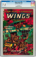 Golden Age (1938-1955):War, Wings Comics CGC-Graded #122-124 Group (Fiction House, 1953-54)Condition: CGC VF- 7.5.... (Total: 3 Comic Books)
