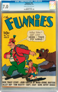 Golden Age (1938-1955):Miscellaneous, The Funnies #33 (Dell, 1939) CGC FN/VF 7.0 Cream to off-white pages....