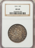 Bust Half Dollars: , 1826 50C MS60 NGC. NGC Census: (4/443). PCGS Population (26/372).Mintage: 4,000,000. Numismedia Wsl. Price for problem fre...