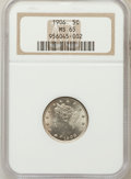 Liberty Nickels: , 1906 5C MS65 NGC. NGC Census: (86/6). PCGS Population (108/12).Mintage: 38,613,724. Numismedia Wsl. Price for problem free...
