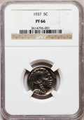 Proof Buffalo Nickels: , 1937 5C PR66 NGC. NGC Census: (477/354). PCGS Population (746/405).Mintage: 5,769. Numismedia Wsl. Price for problem free ...