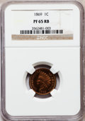 Proof Indian Cents: , 1869 1C PR65 Red and Brown NGC. NGC Census: (72/8). PCGS Population (33/3). Mintage: 600. Numismedia Wsl. Price for problem...