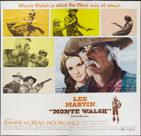 "Monte Walsh (National General, 1970). Six Sheet (81"" X 81""). Western"
