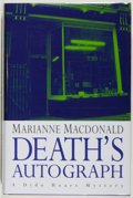 Books:Mystery & Detective Fiction, Marianne Macdonald. SIGNED. Death's Autograph. [London]:Hodder & Stoughton, [1996]. First edition, first printing. ...