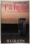 "Books:Mystery & Detective Fiction, Sue Grafton. SIGNED. ""F"" is for Fugitive. New York: HenryHolt, [1989]. First edition, first printing. Signed by G..."