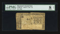 Colonial Notes:Maryland, Maryland March 1, 1770 $2 PMG Very Good 8 Net.. ...