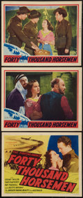 "Movie Posters:Adventure, Forty Thousand Horsemen (Goodwill, 1941). Title Lobby Card andLobby Cards (2) (11"" X 14""). Adventure.. ... (Total: 3 Items)"