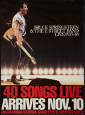 """Movie Posters:Rock and Roll, Bruce Springsteen & The E Street Band Live 1975-85 (Columbia,1986). Album Release Poster (24.5"""" X 33""""). Rock and Roll.. ..."""