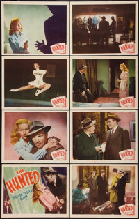 """The Hunted (Allied Artists, 1948). Lobby Card Set of 8 (11"""" X 14""""). Film Noir. ... (Total: 8 Items)"""