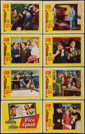 "Movie Posters:Crime, Vice Squad (United Artists, 1953). Lobby Card Set of 8 (11"" X 14"").Crime.. ... (Total: 8 Items)"