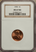 Lincoln Cents: , 1994 1C MS67 Red NGC. NGC Census: (96/22). PCGS Population(136/24). Numismedia Wsl. Price for problem free NGC/PCGS coin ...
