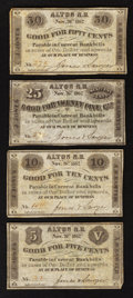 Obsoletes By State:New Hampshire, Alton, NH- Jones & Sawyer 5¢; 10¢; 25¢; 50¢ Nov. 26, 1862. ... (Total: 4 notes)