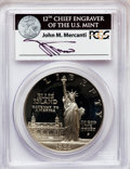 Modern Issues, 1986-S $1 Statue of Liberty Silver Dollar PR69 Deep Cameo PCGS. Ex:Signature of John M. Mercanti, 12th Chief Engraver of t...