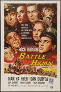 """Movie Posters:War, Battle Hymn and Other Lot (Universal International, 1957). OneSheet (27"""" X 41"""") and Belgian Poster (14"""" X 21""""). War.. ... (Total:2 Items)"""