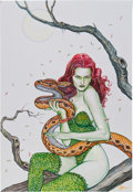 Original Comic Art:Splash Pages, Rene Cortes Poison Ivy Pin-Up Illustration Original Art(2011)....