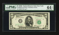 Small Size:Federal Reserve Notes, Fr. 1966-B* $5 1950E Federal Reserve Star Note. PMG Choice Uncirculated 64 EPQ.. ...