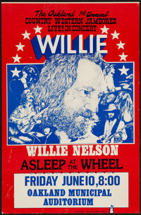 """Willie Nelson Concert Poster (Charlie Magoo Production, Late 1970s). Poster (11"""" X 17""""). Musical"""