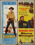 "Movie Posters:Western, The Oklahoman and Other Lot (Allied Artists, 1957). Inserts (2) (14"" X 36""). Western.. ... (Total: 2 Items)"