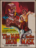 "Movie Posters:Adventure, The Man in the Iron Mask (United Artists, R-1950s). Indian OneSheet (30"" X 40""). Adventure.. ..."