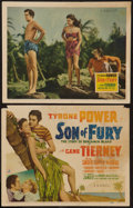 "Movie Posters:Adventure, Son of Fury (20th Century Fox, 1942). Title Lobby Card and LobbyCard (11"" X 14""). Adventure.. ... (Total: 2 Items)"