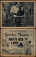 """Movie Posters:Adventure, South Sea Love (Fox, 1923). Title Lobby Card and Lobby Card (11"""" X14""""). Adventure.. ... (Total: 2 Items)"""