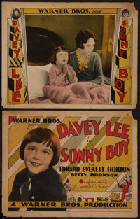"""Sonny Boy (Warner Brothers, 1929). Title Lobby Card and Lobby Card (11"""" X 14""""). Comedy. ... (Total: 2 Items)"""