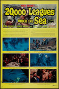 "Movie Posters:Science Fiction, 20,000 Leagues Under the Sea (Buena Vista, R-1963). One Sheet (27""X 41"") Style B. Science Fiction.. ..."
