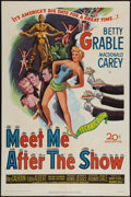 "Movie Posters:Comedy, Meet Me After the Show (20th Century Fox, 1951). One Sheet (27"" X41""). Comedy.. ..."