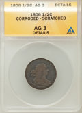 1806 1/2 C Small 6, No Stems -- Corroded, Scratched -- ANACS. AG3 Details. NGC Census: (0/842). PCGS Population (1/495)...