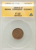 Indian Cents, 1909-S 1C --Corroded, Cleaned -- ANACS. Fine 12 Details. NGCCensus: (244/2770). PCGS Population (249/2451). Mintage: 309,0...