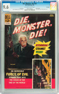 Silver Age (1956-1969):Horror, Movie Classics Die, Monster, Die #nn File Copy (Dell, 1966) CGC NM+9.6 Off-white to white pages....